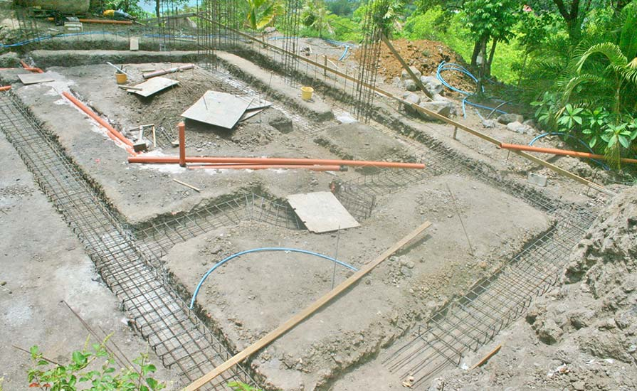 129-The-footings-and-the-steelwork-are-laid-for-the-Main-house