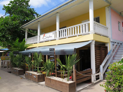 Chameleon Café and Boutique on Front Street the most modern shop and café in Bequia.