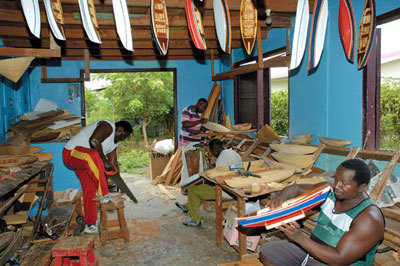 One of the model boat building workshops