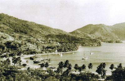 Port Elizabeth Harbour Beach in 1945